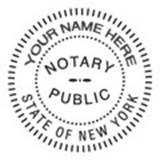 When Another Image Is Required It Must Then Be Pressed Into The Stamp Pad Again And To Document Were New York Notary Seal